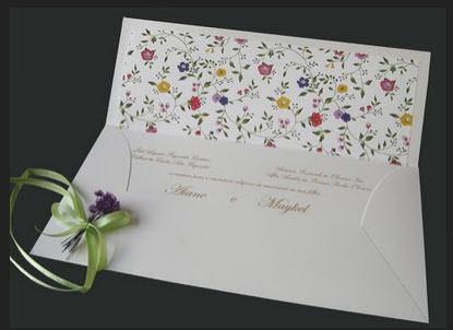 Convite de Casamento Floral - Art Invitte Modelo Janela