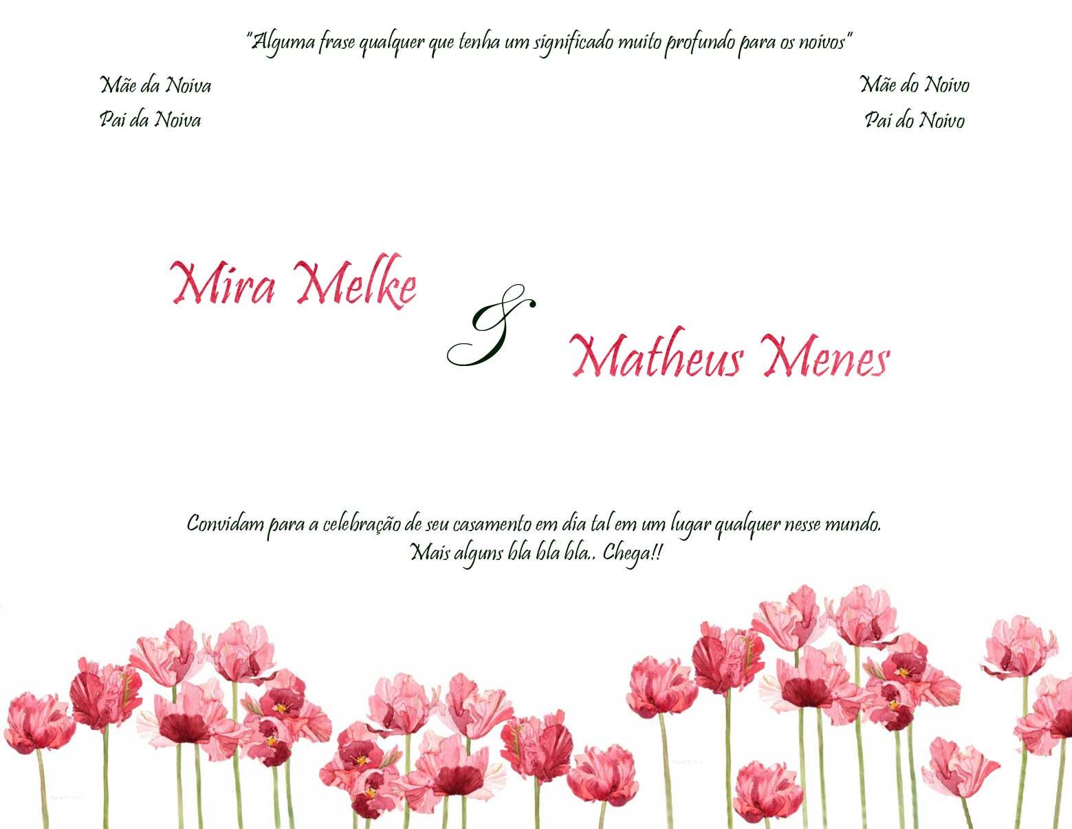 Fundo para convite de casamento - preencher e imprimir - Convite de Casamento em aquarela
