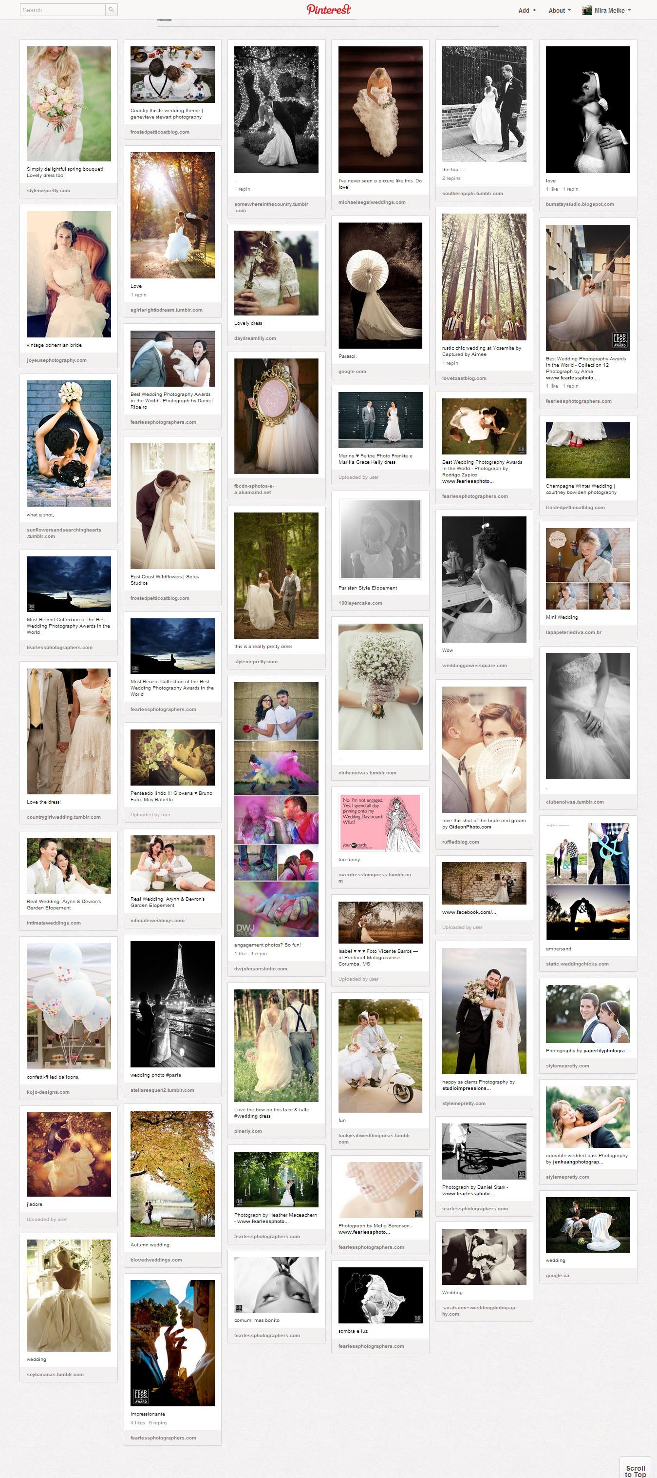 Board do pinterest sobre fotografias de casamento - Clube Noivas.com