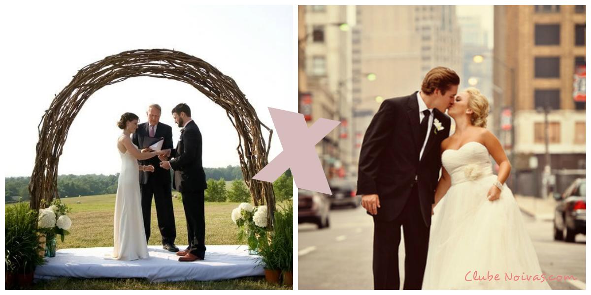 Casamento no Campo ou na Cidade