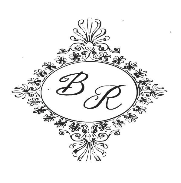 Monograma ou Brasão - Modelo Espelho com Iniciais dos Noivos