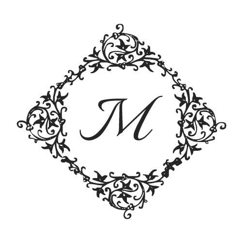 Monograma ou Brasão com moldura artística