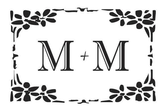 Monograma de Casamento - M e M