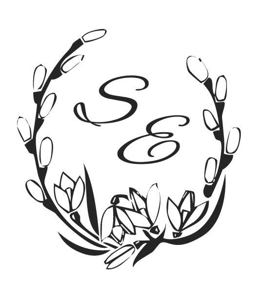 Monograma de casamento - Brasão com as Letras dos Noivos