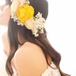 Coroa de Flores Noivas Assimétrica e Colorida