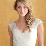 Penteado com Flores para Noivas - Trança Lateral