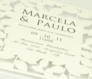 Convite de Casamento - Corte a Laser - About Love