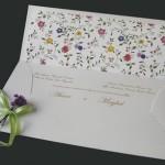 Convite de Casamento - Estampa Floral - Art Invitte