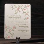Convite de Casamento - Flores em Letterpress