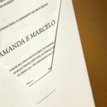 Convite de Casamento - Simples e Elegante - Relevo Seco - Papel Estilo