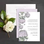 Convite de Casamento com Arte gráfica - Flores