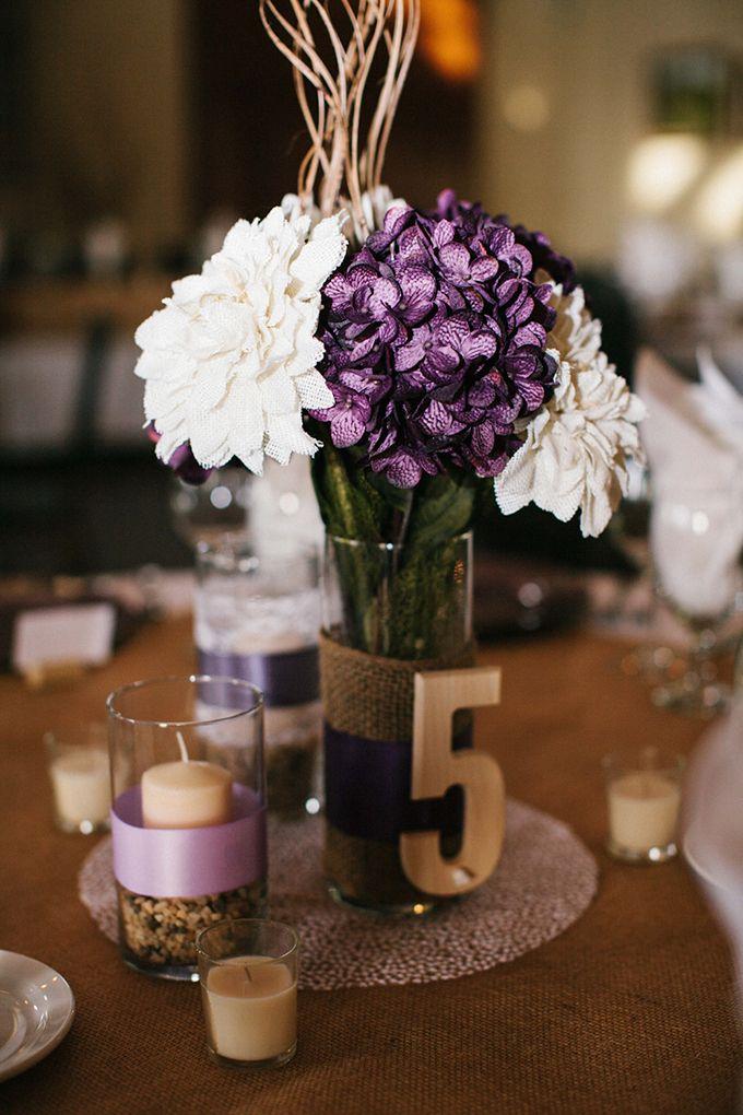 Centro de mesa r stico e moderno clube noivas - Centro de mesa rustico ...