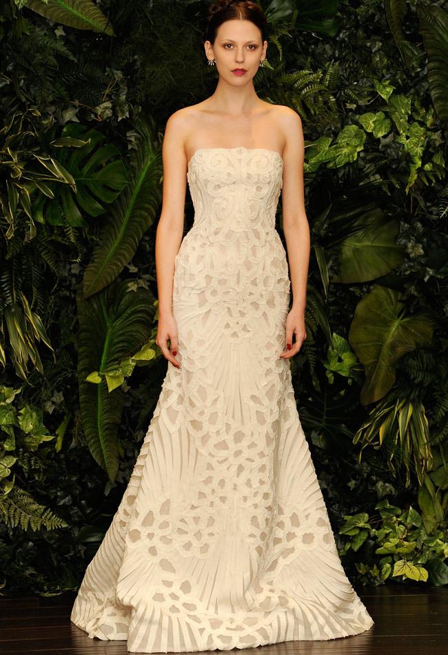 vestido de noiva com apliques e textura -Naeem Khan