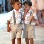 Pajens de bermuda suspensório e gravata borboleta - super fofo