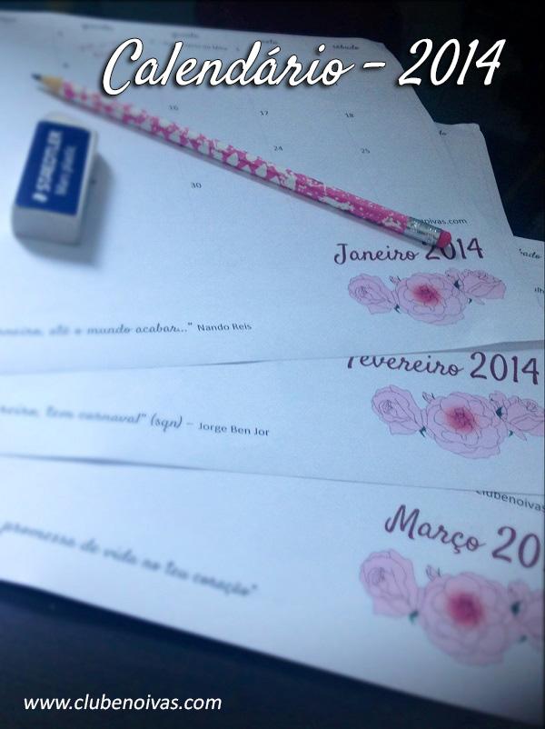 Calendário 2014 para download - planejamento do ano e metas para 2014 - Divisão Mensal
