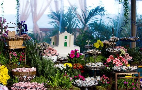 mesa de Flores Jardim