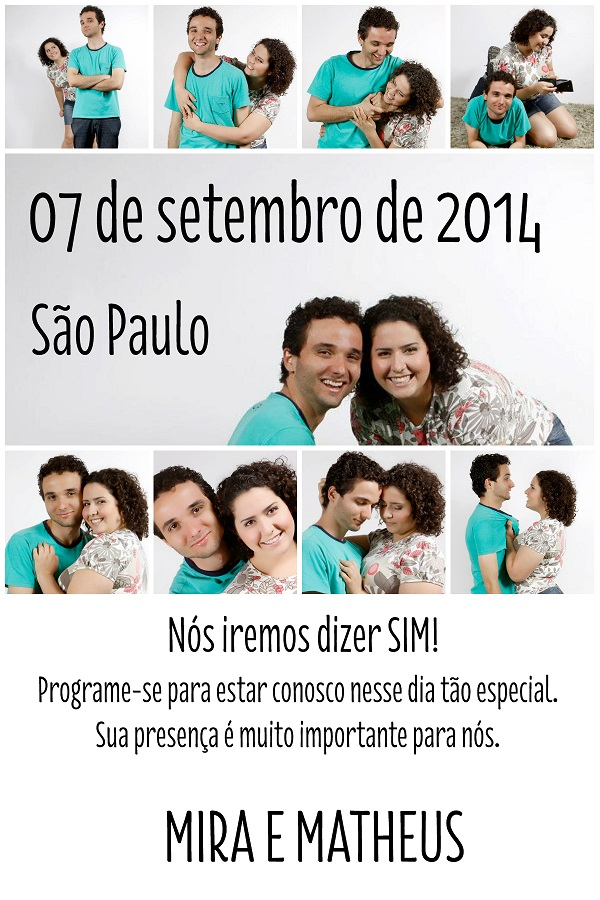 Save the Date - Mira e Matheus