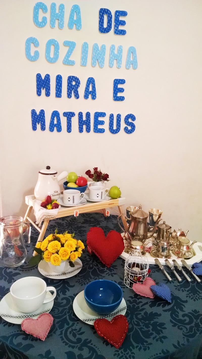 mesa do chá - chá de cozinha mira e matheus