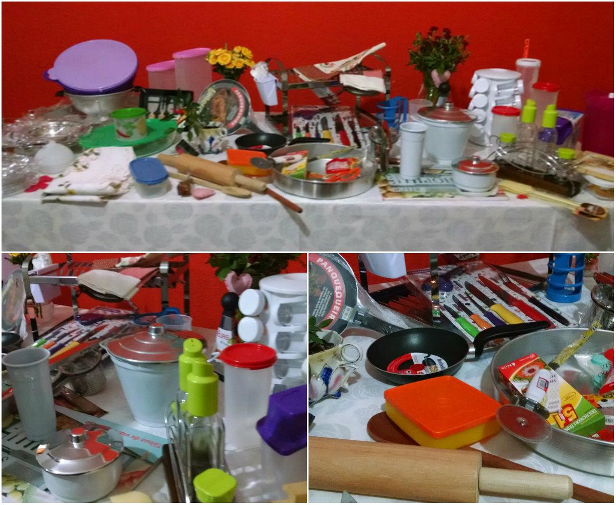 presentes que ganhei no chá de cozinha surpresa organizado pela minha sogra