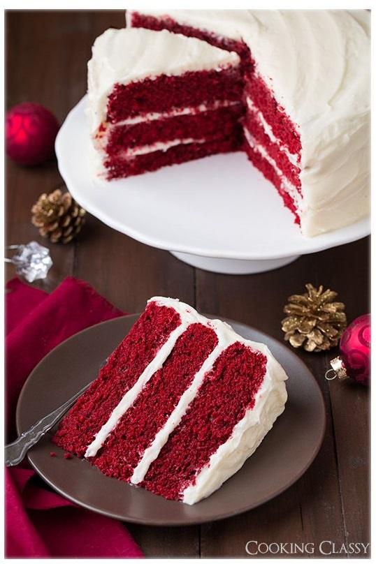 Bolo de Natal - Veludo Vermelho
