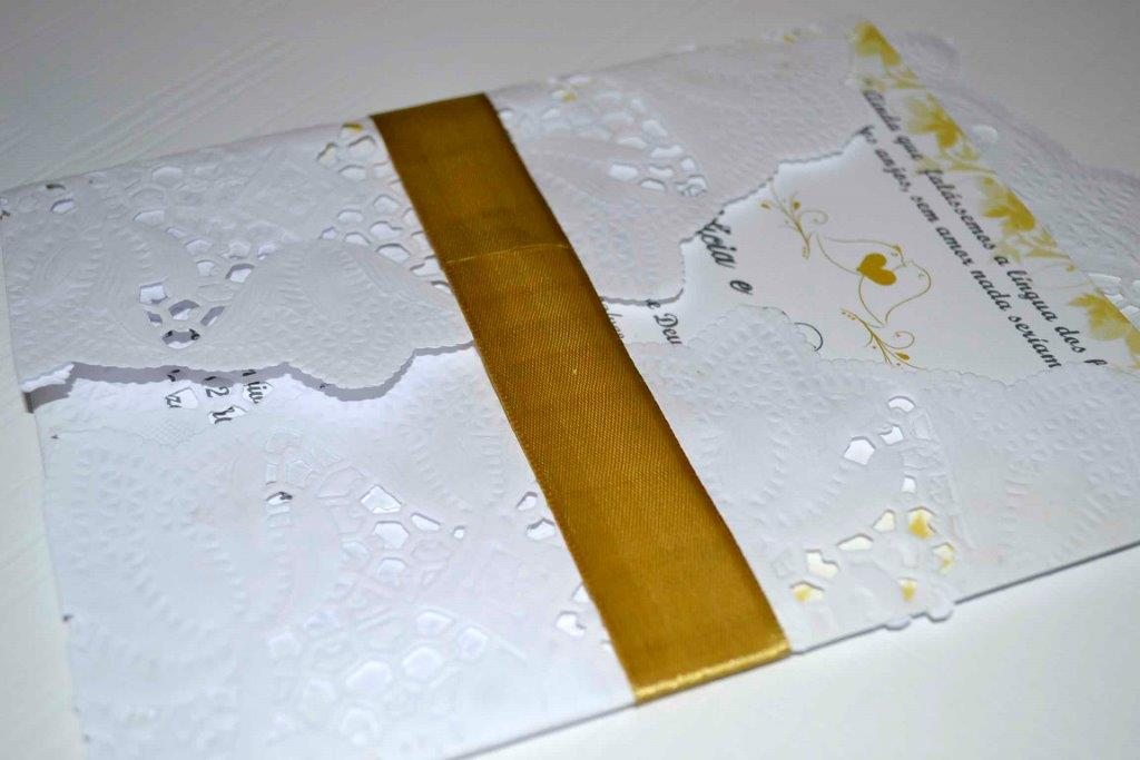 Tutorial - Convite de papel rendado 14