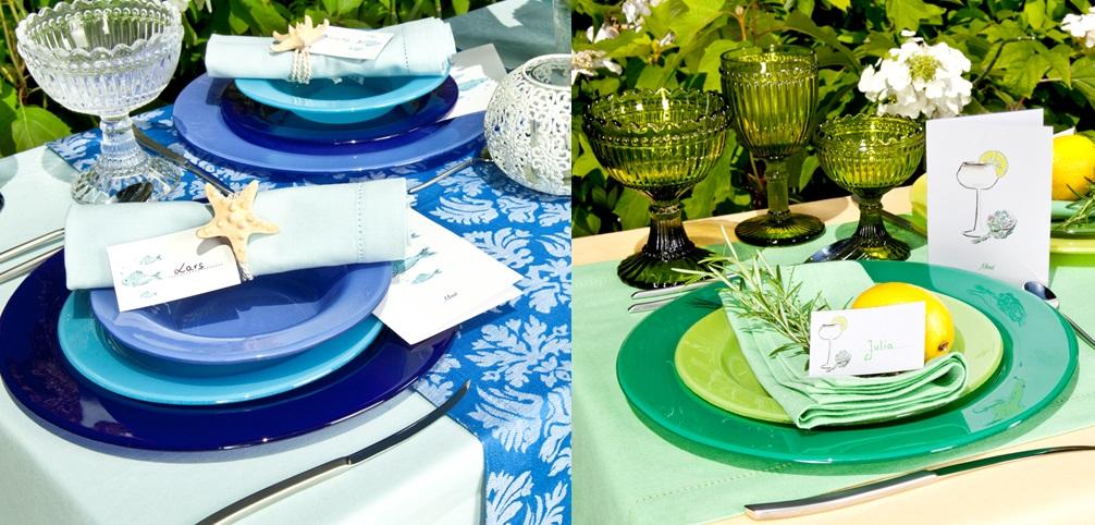 cores vivas para decorar a mesa do casamento