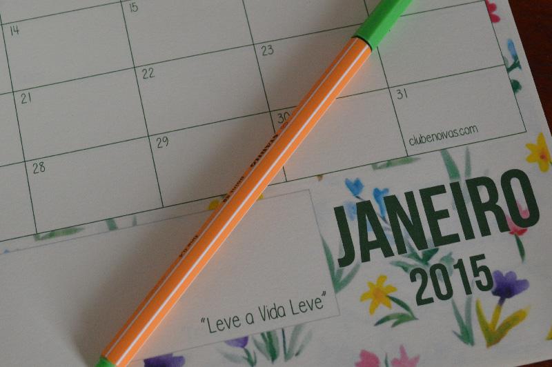 Calendário 2015 para download - 1 página por mês