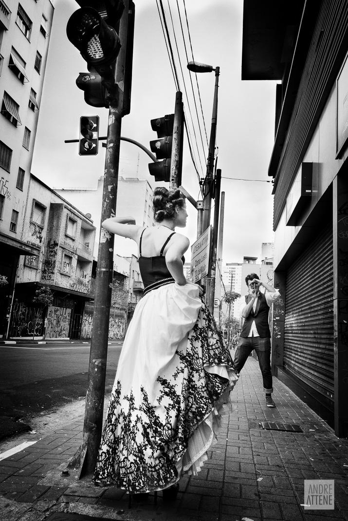 Preto no Branco na Velha Augusta - Foto Andre Attene - Noivos Juliana e Rodrigo (2)
