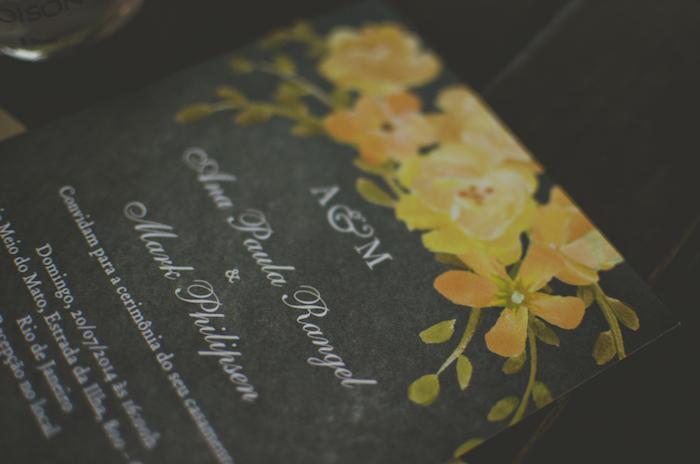 Convite de Casamento - Quadro negro com pintura