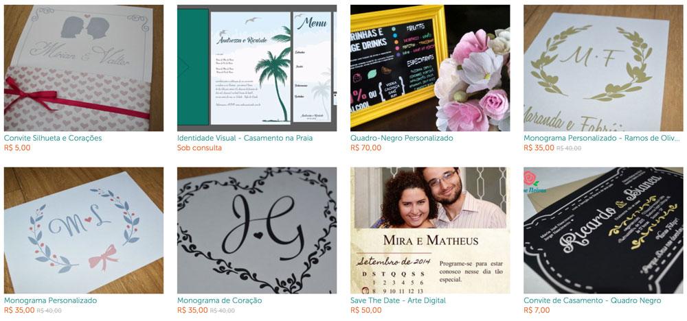 Loja de Convites e Papelaria para Casamento - Por Mira Melke