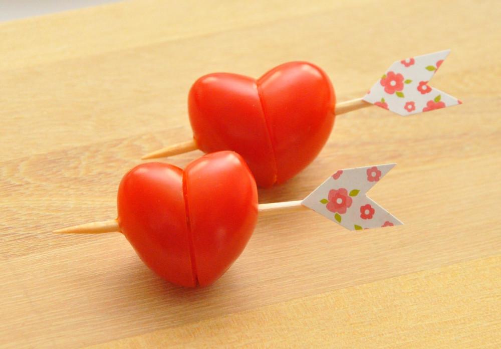 Coração com Tomate Cereja