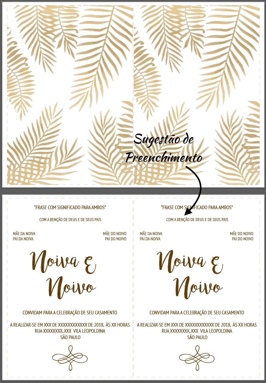 Diy Convite De Casamento Em Papel Vegetal Noivinhas De Luxo
