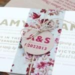 Convite de Casamento - Estampa Floral