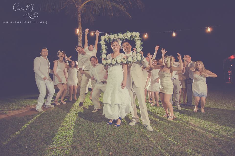 Thais e Akira - Mini Wedding - Azul e branco - 11