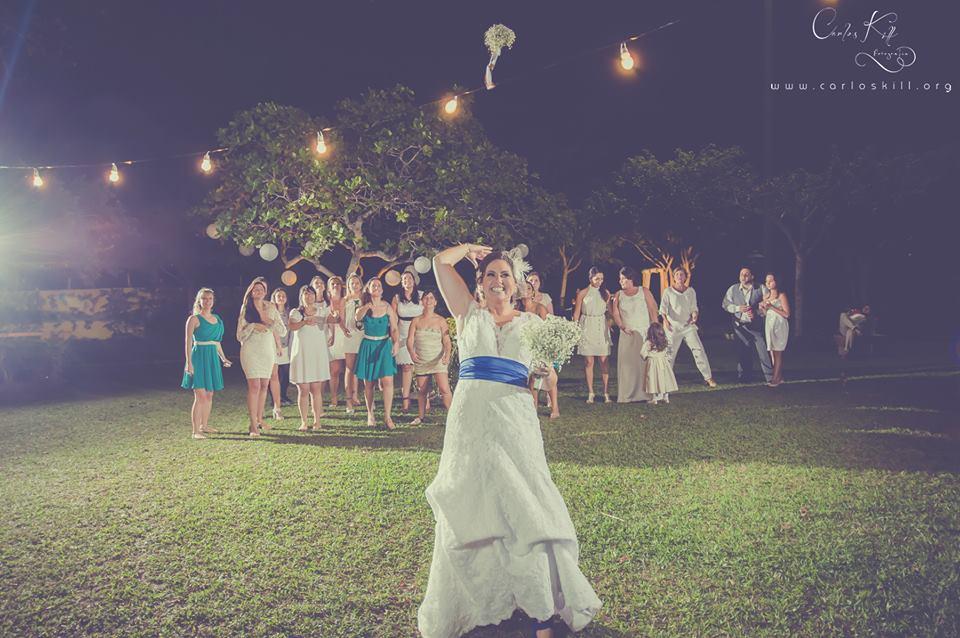Thais e Akira - Mini Wedding - Azul e branco - 16