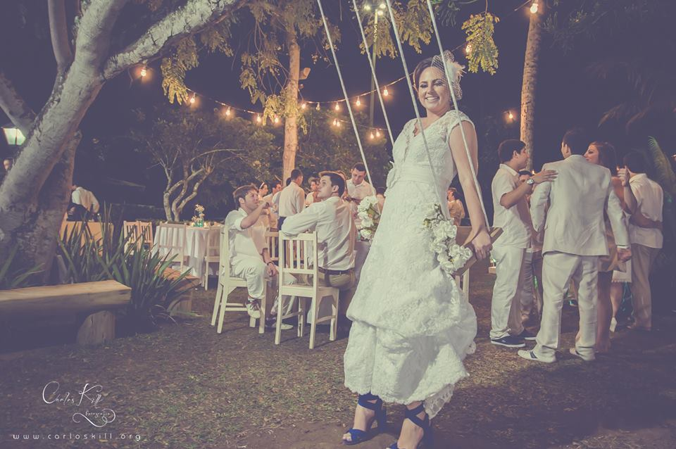 Thais e Akira - Mini Wedding - Azul e branco - 9