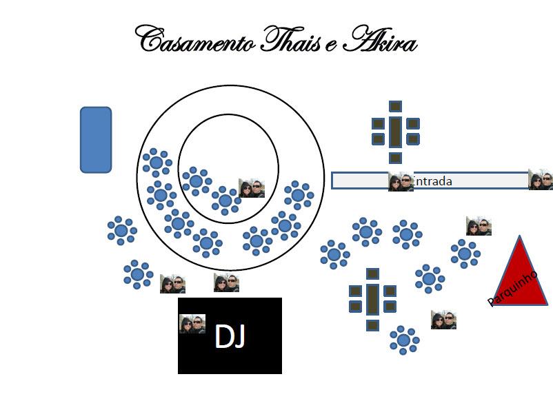 mapa da decoração