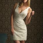 vestido de noiva curto e justo