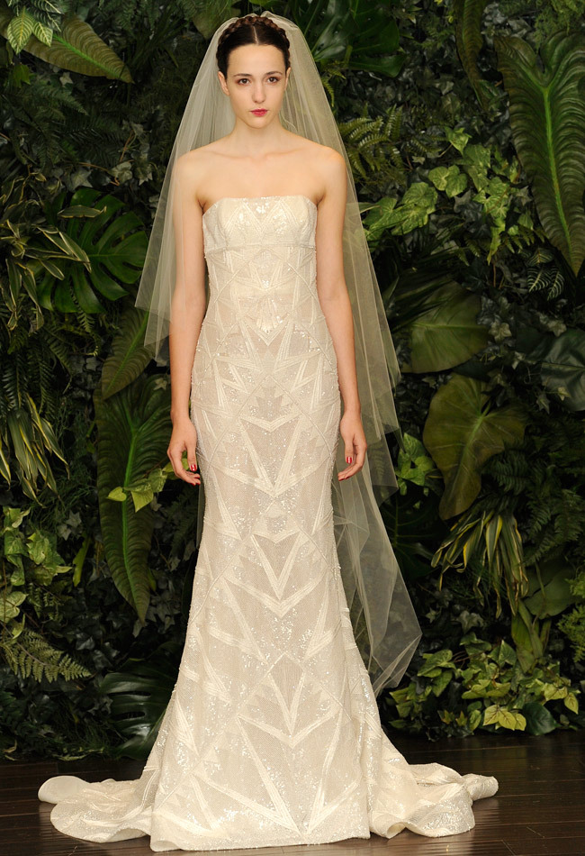 vestido de noiva desenhos geométricos - Naeem Khan