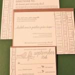 Convite de Casamento Passarinhos e Troncos