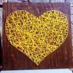 Coração em Trama - Amarelo