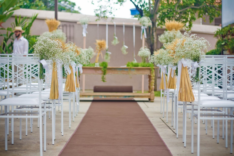 miniwedding decoração da cerimônia
