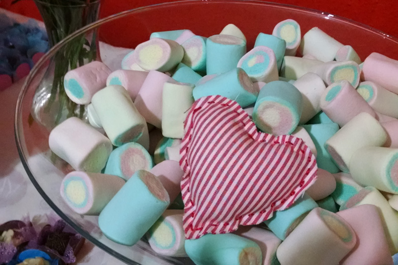coração no marshmallow