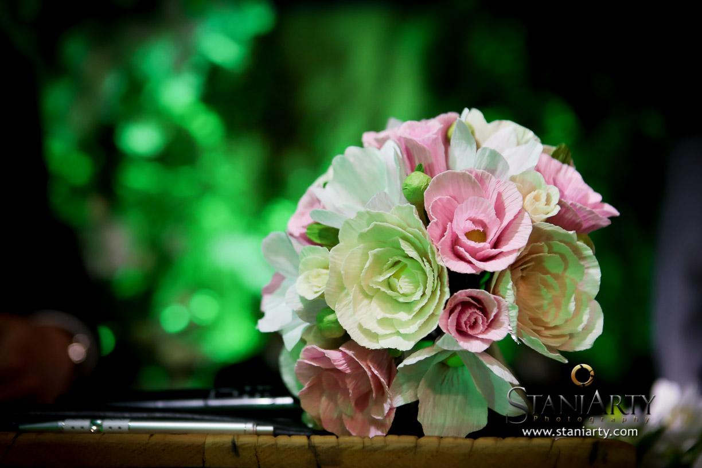 Bouquet de Noiva feito com flores de papel
