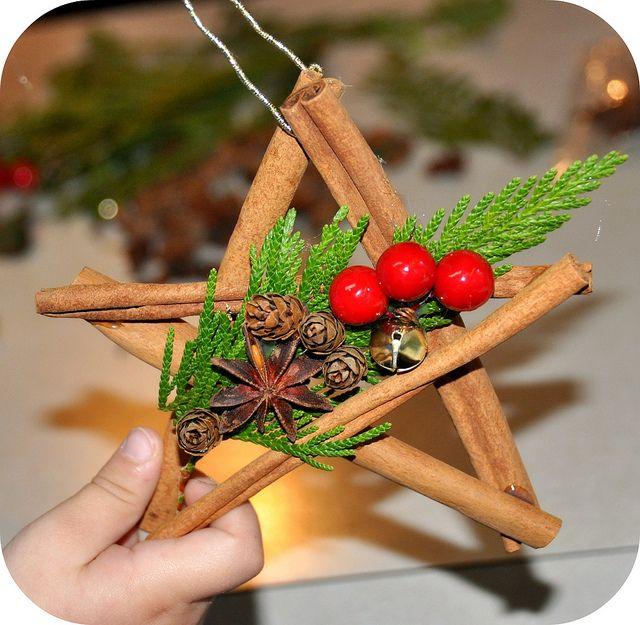 fazer enfeite de natal de canela