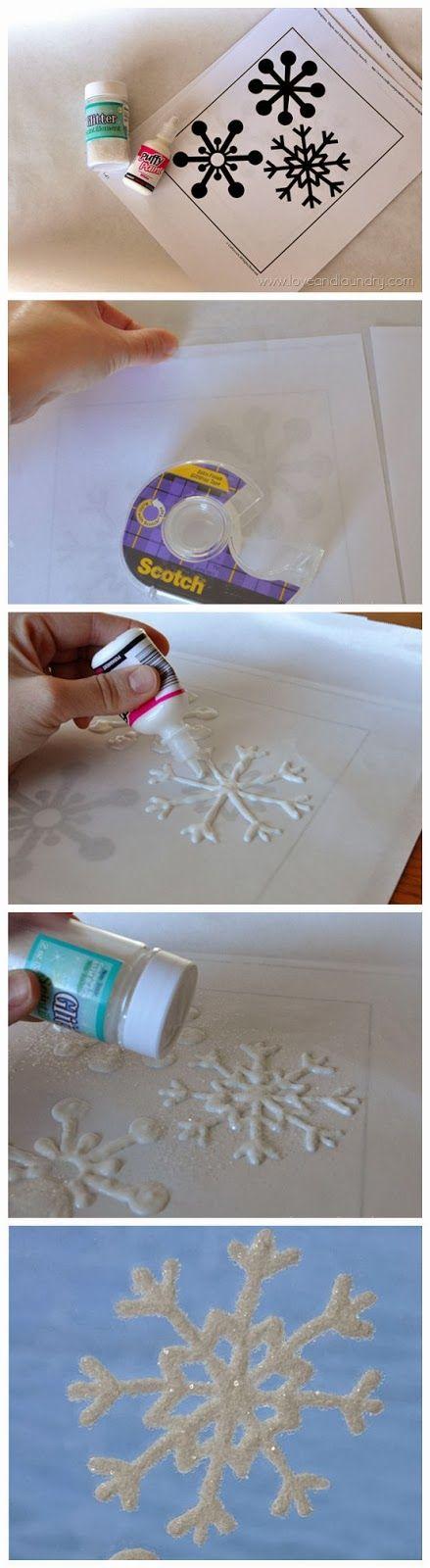 Fazer enfeite de natal de floco de neve